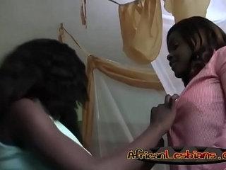 Lesbian girl pleasing each other