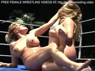 Nice boobs lesbians wrestling
