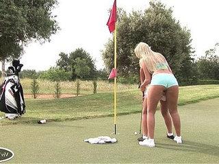 Blonde Lesbian Golfers